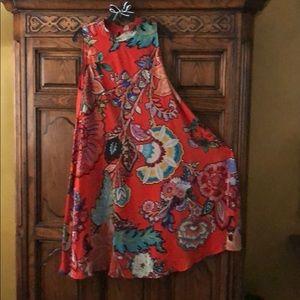 42 inch long silk swing dress worn once no spots,